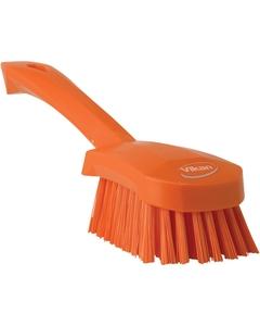 "Orange Short-Handled Scrubbing Churn Brush, 9.8"" Length (Tools)"