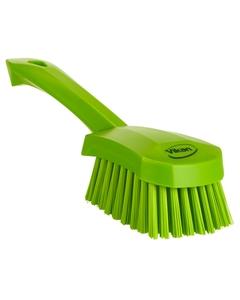 "Lime Green Short-Handled Scrubbing Churn Brush, 9.8"" Length (Tools)"