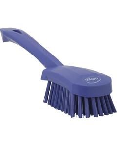"Purple Short-Handled Scrubbing Churn Brush, 9.8"" Length (Tools)"