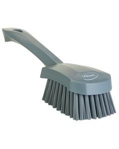 "Gray Short-Handled Scrubbing Churn Brush, 9.8"" Length (Tools)"
