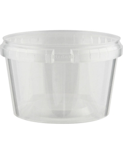 Superfos® 16 oz. Clear PP Plastic Safe Lock Tamper Evident Container