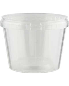Superfos® 20 oz. Clear PP Plastic Safe Lock Tamper Evident Container