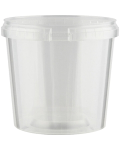 Superfos® 24 oz. Clear PP Plastic Safe Lock Tamper Evident Container