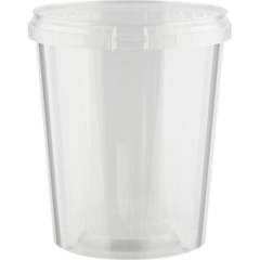 Superfos® 32 oz. Clear PP Plastic Safe Lock Tamper Evident Container