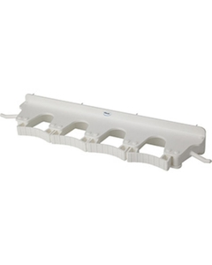 White Plastic Wall Bracket for 4-6 Tools