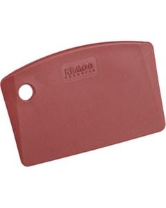 Red Plastic Mini Bench Scraper, Metal Detectable