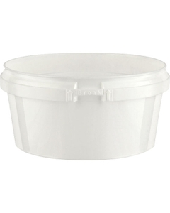 Superfos® 8 oz. White PP Plastic Safe Lock Tamper Evident Container