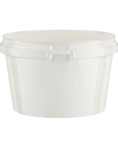 Superfos® 16 oz. White PP Plastic Safe Lock Tamper Evident Container