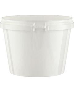 20 oz. White Plastic Round Tamper Evident Container, 119mm