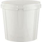 Superfos® 24 oz. White PP Plastic Safe Lock Tamper Evident Container