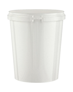 Superfos® 32 oz. White PP Plastic Safe Lock Tamper Evident Container
