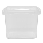 12 oz. Clear PP Tamper Resistant Square Container, L4X4
