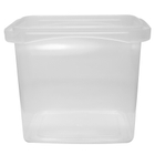 32 oz. Clear PP Tamper Resistant Square Container, L5X5