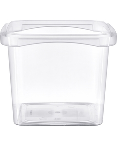 48 oz. Clear PP Tamper Resistant Square Container, L5X5