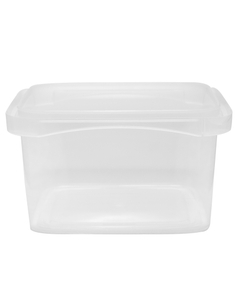 16 oz. Clear PP Tamper Resistant Square Container, L4X4