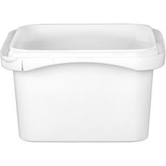 12 oz. White PP Tamper Resistant Square Container, L4X4