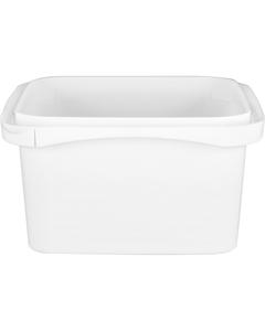 32 oz. White PP Tamper Resistant Square Container, L5X5