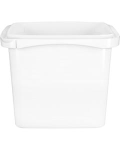 48 oz. White PP Tamper Resistant Square Container, L5X5