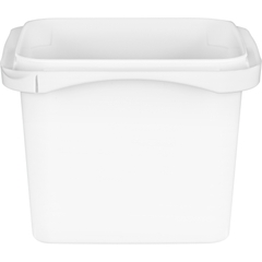 16 oz. White PP Tamper Resistant Square Container, L4X4
