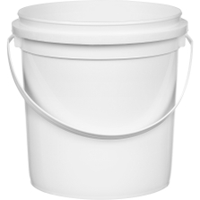 1 Gallon White HDPE Plastic Pry-Off Container w/Handle L704