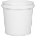 1 Quart (32 oz.) White HDPE Plastic Pry-off Container L412