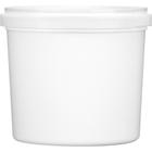 85 oz. White HDPE Plastic Tamper Resistant Tub, L607