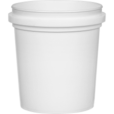 1 Pint (16 oz.) White HDPE Plastic Pry-off Container L311
