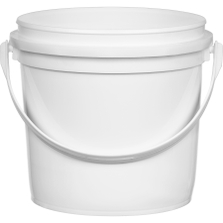 1/2 Gallon (64 oz.) White HDPE Plastic Pry-off Container with Handle L514