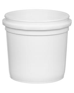 1/2 Gallon (64 oz.) White HDPE Plastic Pry-off Container L514