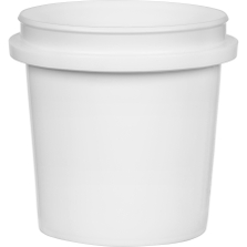 1/2 Pint (8 oz.) White HDPE Plastic Pry-off Container L303