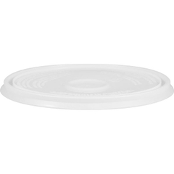 1 Gallon White Pry-off Plastic Pail Lid (no Gasket)