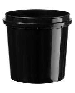1 Quart (32 oz.) Black HDPE Plastic Pry-off Container L412