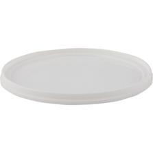 White LLDPE Plastic Tub Lid, Double Seal, L607DSCP