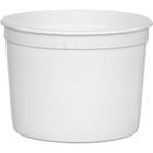 64 oz. (1/2 Gallon) White HDPE Plastic Round Container, L607