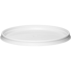 89mm White PP Plastic Round Tamper Evident Lid For 7 & 13 oz. Containers