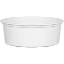 8 oz. White PP Plastic Round Container, L409