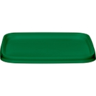 105mm Green PP Plastic Square Tamper Evident Lid for 7-16 oz. Containers