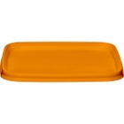 105mm Orange PP Plastic Square Tamper Evident Lid for 7-16 oz. Containers