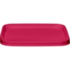 105mm Pink PP Plastic Square Tamper Evident Lid for 7-16 oz. Containers