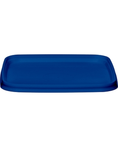 105mm Blue PP Plastic Square Tamper Evident Lid for 7-16 oz. Containers