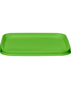 105mm Light Green PP Plastic Square Tamper Evident Lid for 7-16 oz. Containers