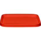105mm Red PP Plastic Square Tamper Evident Lid for 7-16 oz. Containers