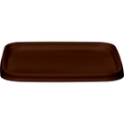 105mm Brown PP Plastic Square Tamper Evident Lid for 7-16 oz. Containers