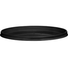 110mm Black PP Plastic Round Tamper Evident Lid, For 8-32 oz. Containers