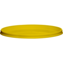 110mm Yellow PP Plastic Round Tamper Evident Lid For 8-32 oz. Containers