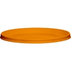 110mm Orange PP Plastic Round Tamper Evident Lid For 8-32 oz. Containers