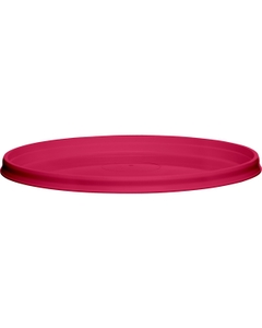 110mm Pink PP Plastic Round Tamper Evident Lid For 8-32 oz. Containers