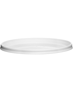 110mm 110-TE White PP Round Tamper Evident Lid For 8-32 oz. Containers