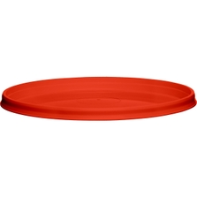 110mm Red PP Plastic Round Tamper Evident Lid For 8-32 oz. Containers