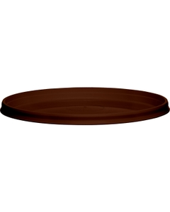 110mm Brown PP Plastic Round Tamper Evident Lid, For 8-32 oz. Containers